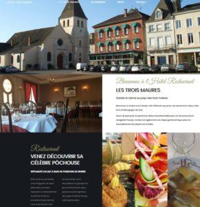 Site Hôtel Restaurant Les Trois Maures à Verdun/Doubs